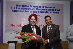 Meeting with India Ambassador Mr. Manjeev Singh Puri